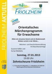 Blättle KW 03 - Friolzheim
