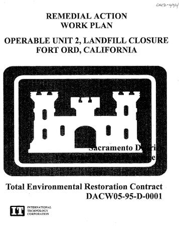 REMEDIAL ACTION WORK PLAN OPERABLE UNIT 2, LANDFILL ...