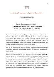 Pressemitteilung (PDF) - Galerie Dorothea van der Koelen
