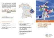 Internationale Wirtschaft - Bayerisches Staatsministerium für ...