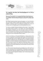 Flughafen Bern-Belp stellt Bewilligungsgesuch für GPS-Anflüge