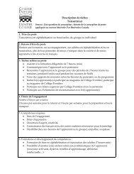 Description de tâches tutorat en alphabétisation ... - Frontier College