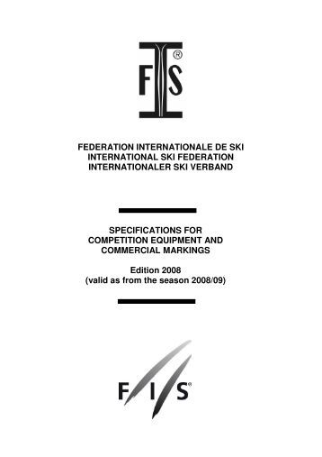 FEDERATION INTERNATIONALE DE SKI INTERNATIONAL ... - FIS