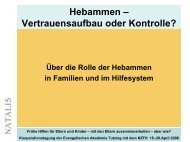 Hebammen –Vertrauensaufbau oder Kontrolle? (Präsentation ...