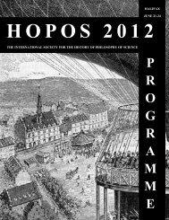 P R O G R A M M E - HOPOS 2012 - Dalhousie University