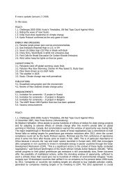 E-news update January 3 2006 In this issue: POLICY 1.1 ...