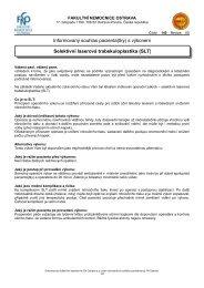 Selektivní laserová trabekuloplastika (SLT) - Fakultní nemocnice ...