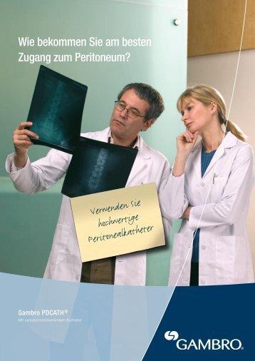 Wie bekommen Sie am besten Zugang zum Peritoneum? - Gambro