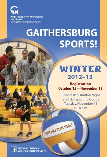 View the Winter Sports Listings as a pdf file - City of Gaithersburg