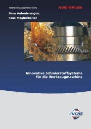 Innovative Schmierstoffsysteme für die Werkzeugmaschine