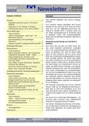 Newsletter Nr. 2 / 2010 - Forum Justizgeschichte eV