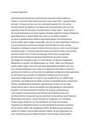 """Andreas Hildebrandt """"Der Anblick einer Sache kann ... - Galerie Baer"""