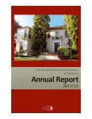 2011/12 - Bechtel International Center - Stanford University