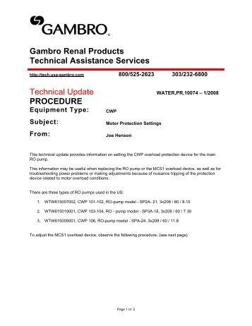 wro 100 cwp membrane element replacement gambro rh yumpu com