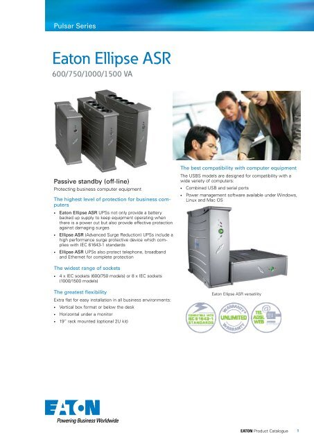 Eaton Ellipse ASR UPS Product Brochure - Fusion Power System