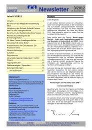 Newsletter Nr. 3 / 2012 - Forum Justizgeschichte eV