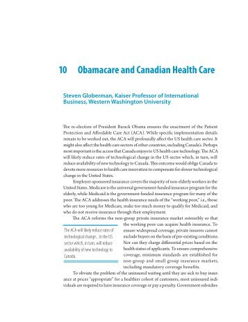 Essay 10: Obamacare And Canadian Health Care   Fraser Institute