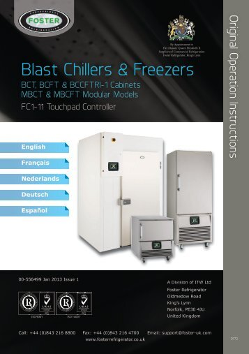 Blast Chillers & Freezers - Foster web spares
