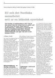 EU och det nordiska samarbetet sett ur en isländsk ... - Frit Norden
