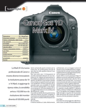 Canon Eos 1D Mark IV - Fotografia.it