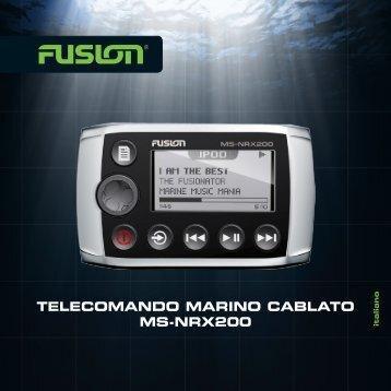 TELECOMANDO MARINO CABLATO MS-NRX200 - Fusion