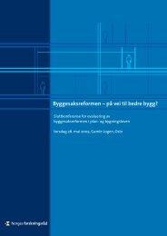 Byggesaksreformen – på vei til bedre bygg? - Norges forskningsråd