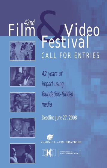Call for Entries PDF - Council on Foundations - Film & Video Festival
