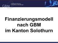 Finanzierungsmodell nach GBM im Kanton Solothurn