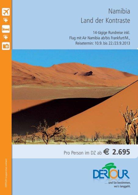 Namibia Land der Kontraste - Flughafen Frankfurt