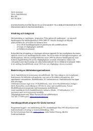 Handlingsplan för ökad tillgänglighet till ... - Gävle kommun