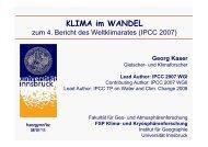 Vortrag von Prof. Kaser zum Klimawandel