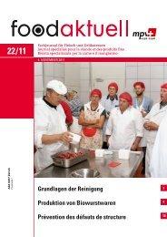 Grundlagen der Reinigung Produktion von ... - Foodaktuell.ch