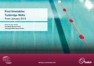 Pool timetables Tunbridge Wells - Fusion Lifestyle