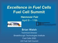 Excellence in Fuel Cells Fuel Cell Summit ... - Fuel Cells 2000