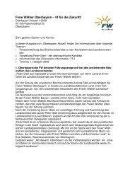 Freie Wähler Oberbayern – fit für die Zukunft!