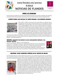 Boletín de noticias - septiembre 2012 - Flandes y Bruselas