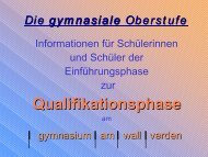 Q-Phase-INFO-2009 - gymnasium am wall verden