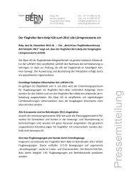 Lärmgrenzwerte eingehalten - Wirtschaftsraum Bern
