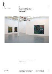 Katrin Heichel HONIG - Galerie b2