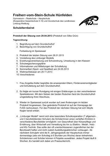 29. April 2013 - Freiherr-vom-Stein-Schule