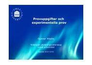 Provuppgifter och experimentella prov [3,7 MB]