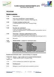 Se program i PDF-versjon - Fjord Norway