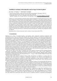 Antibiotic resistance dissemination and sewage treatment plants