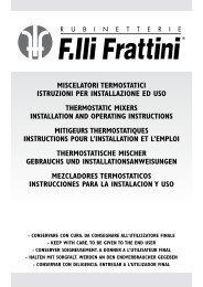 miscelatori termostatici istruzioni per installazione ed uso ...