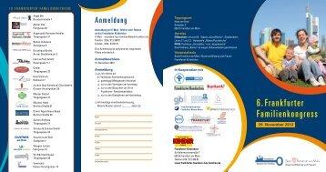 6. Frankfurter Familienkongress - Frankfurter Bündnis für Familien