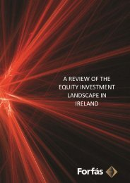 A Review of the Equity Investment Landscape In Ireland ... - Forfás