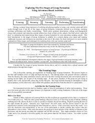 Forming Storming Norming Performing Transforming