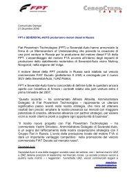 FPT e Severstal-Auto produrranno motori diesel in - FPT Industrial SpA
