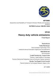 WP400 Heavy duty vehicle emissions - Inrets