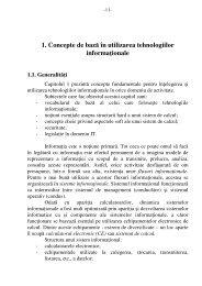 1. Concepte de bază  în utilizarea tehnologiilor informaţionale